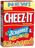 Cheez-It Baked Snack Crackers, Scrabble Junior, 13.7-Ounce Boxes (Pack of 4)
