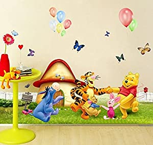 Wall Decal Sticker Winnie The Pooh Piglet Tiger And Friends Kids Bedroom  Nursery Daycare And Kindergarten Mural Home Decor DIY Self Adhesive  Removable Part 76