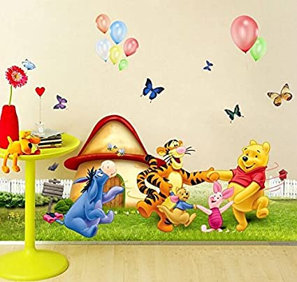 Amazon.com: Wall Decal Sticker Winnie the Pooh Piglet Tiger and ...