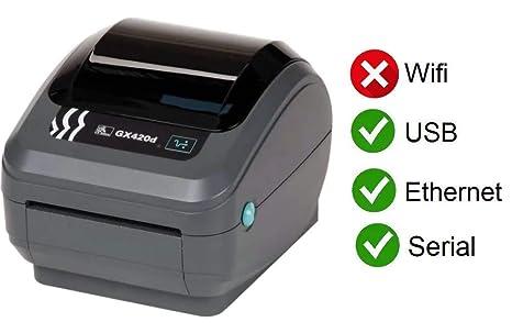Amazon.com: Zebra GX420D GX42-202410-000 - Impresora térmica ...