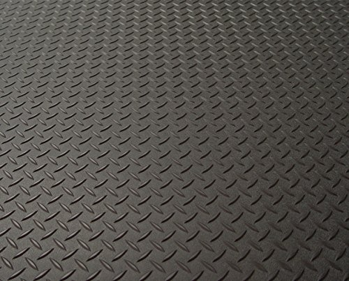 Auto Care Products 84200 Diamond Deck 2 Car Garage Kit with (2) 7.5' x 24' and (1) 5' x 24' Floor Mats, Black Textured by Auto Care (Image #1)