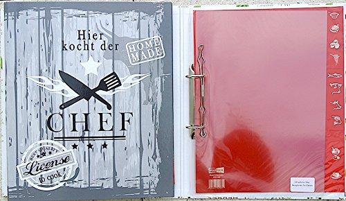 Veloflex® , raccoglitore per ricette formato A4, con divisori, 5141271, con scritta 'Chef' con scritta Chef