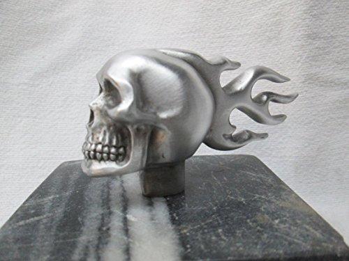 Vintage Harley Flaming Skull  Hotrod  Car Hood Ornament