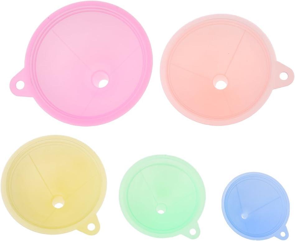ruiruiNIE 5Pcs Bunter Plastiktrichter kleine mittlere gro/ße Vielzahl fl/üssige /Öl-K/üchen-Satz