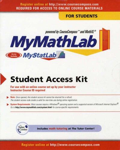 Mymathlab Mystatlab  Student Version