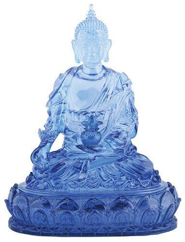 Blue Colored Medicine Buddha Religious Shrine Decorative Statue