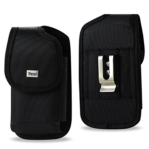 XXXL BLACK Rugged Nylon Pouch (Fits Samsung Galaxy Note 5 Note 4 / 3 / 2 / Galaxy S6 Edge Plus W Hybrid Case On the Phone) + Zoomazig Stylus