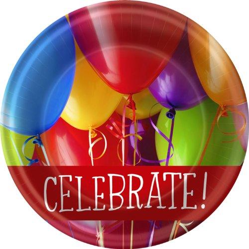 - Birthday Balloons Dessert Plates