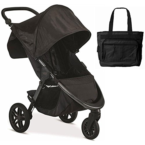 Britax B-Free Infant Baby Stroller - Midnight with Diaper Bag by Britax USA