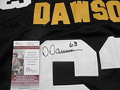 Dermontti Dawson signed Pittsburgh Steelers jersey HOF JSA COA Kentucky