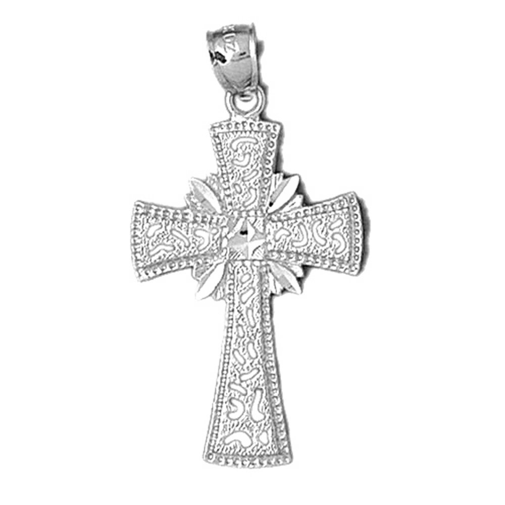 Jewels Obsession Cross Pendant Sterling Silver 925 Cross Pendant 41 mm