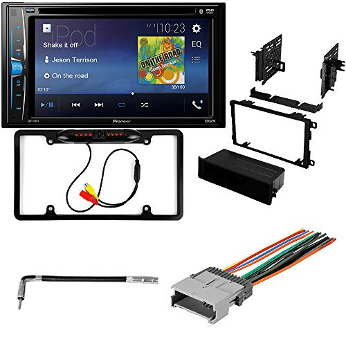 CACHÉ KIT2336 Bundle W/Car Stereo with Bluetooth, Backup Camera for 2003 - 2006 Chevrolet Suburban Double DIN Multimedia DVD Touchscreen Receiver W/Complete Installation Kit (5Item)
