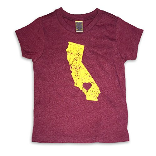 - Sol Baby Souther California Love Trojan Themed Cardinal Infant/Toddler Tee-3T-Red