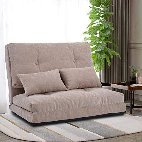 Merax Floor Sofa Bed Adjustable Futon Sofa Bed Floor Couch