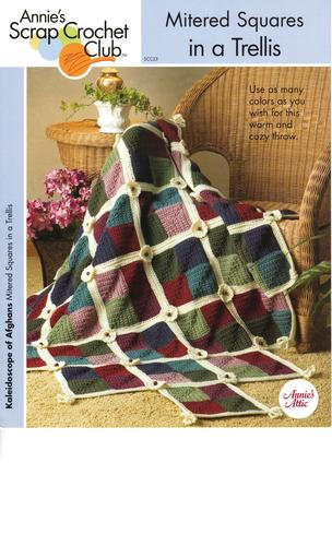 Mitered Squares in a Trellis (Afghan) - Annie's Scrap Crochet Club - #SCC23 - One Crochet Pattern for One Afghan - 2005 ebook