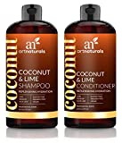 ArtNaturals Coconut-Lime Shampoo and Conditioner Set – (16 oz X 2) - Replenishing Hydration - Deep Moisturizing For All Hair Types – Coconut, Lime, Aloe Vera and Rosehip