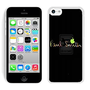 Lovely And Unique Designed Cover Case For iPhone 5C With Paul Smith 16 White Phone Case