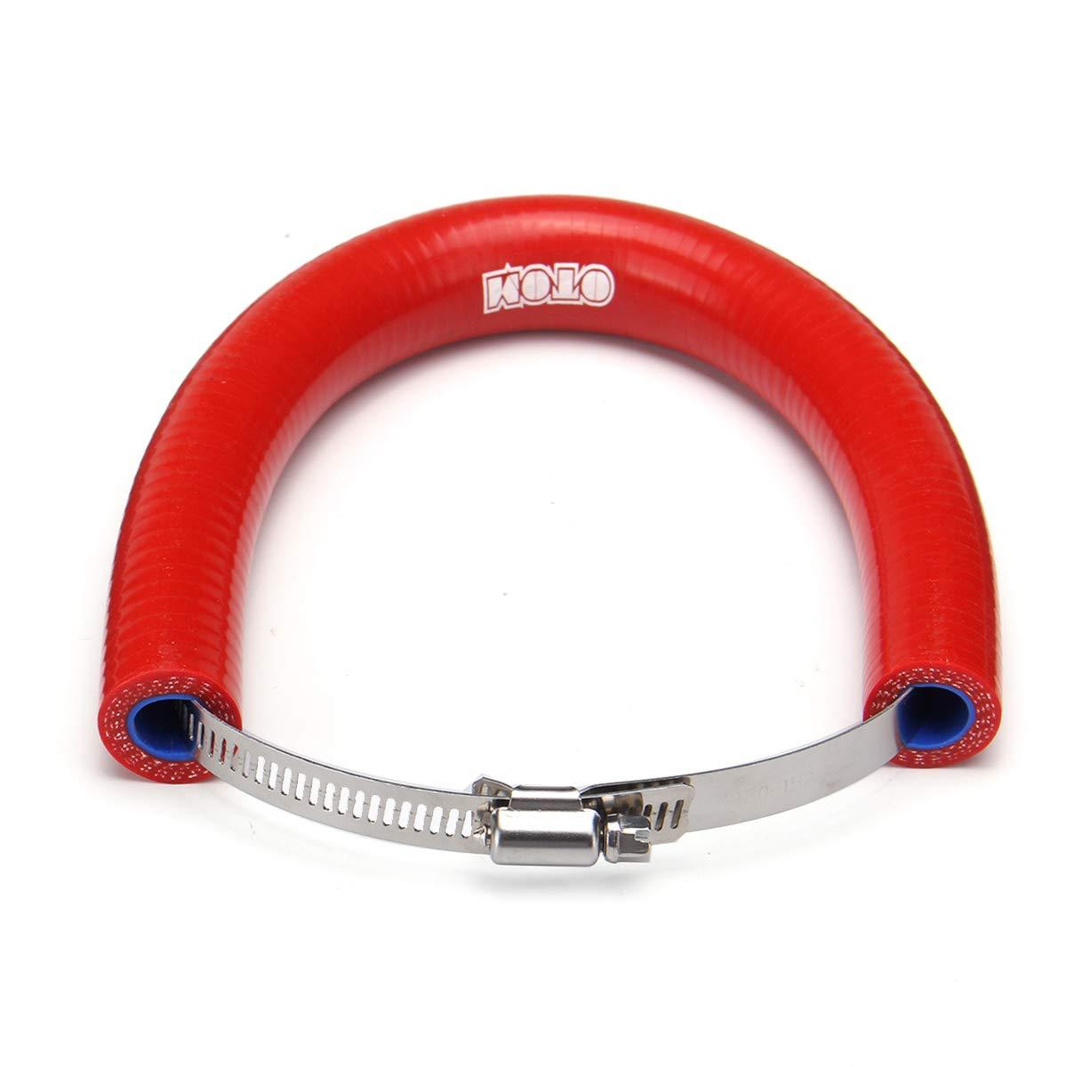 Rojo GOZAR El Protector Universal del Silenciador del Extractor De La Motocicleta Puede Cubrir El Protector para KTM Exc Sxf 250-525