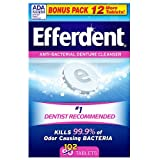 Efferdent Original Tablet Bonus 102 ct Pack of 12