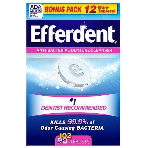 Efferdent Original Tablet Bonus 102 ct Pack of 12