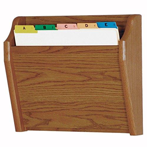 Wooden Mallet Tapered Bottom File Holder, Letter Size, Mahogany
