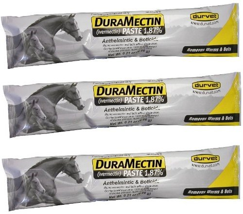 (3 Pack) of Duramectin Ivermectin Paste 1.87 Percent For Horses, 0.21 Ounces each Durvet Inc