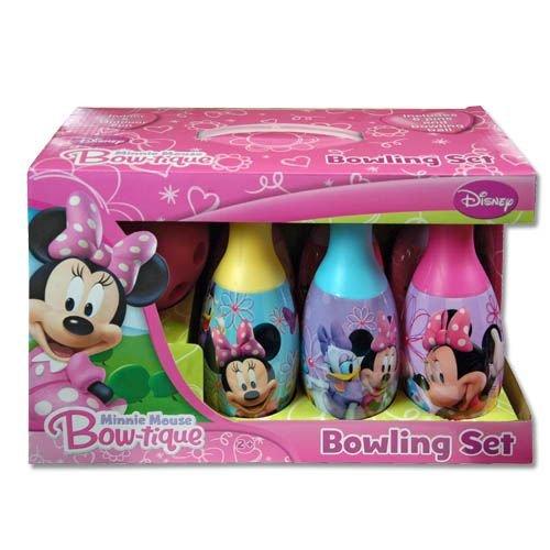 Disney licence: Minnie Mouse Bow-tique Bowling Set dans un boîtier
