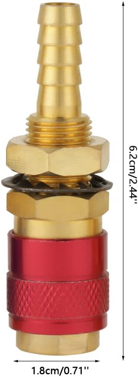 2pcs 8mm Quick Connector Set Gas Quick Connect Fittings for Tig Welding Torch Welding Gas Adapter