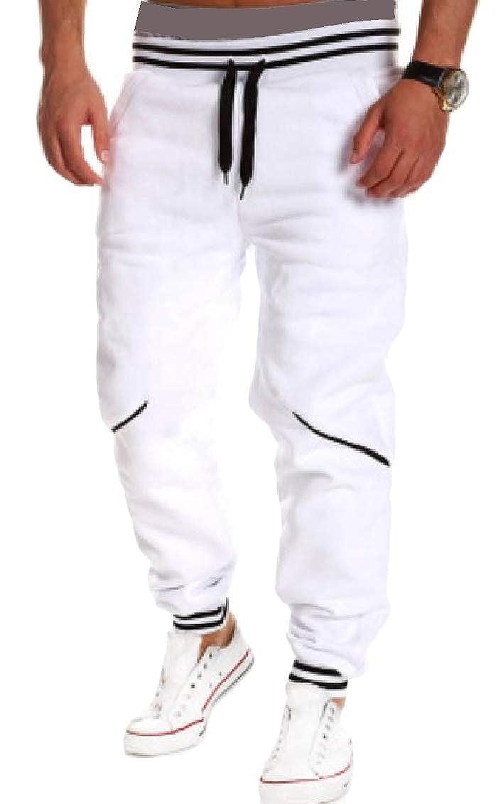 Sweatwater Men Sport Workout Jogging Elastic Waist Trousers Pants