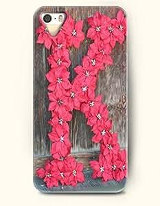 Pink Flower Alphabet K - OOFIT iPhone 4 4s Case