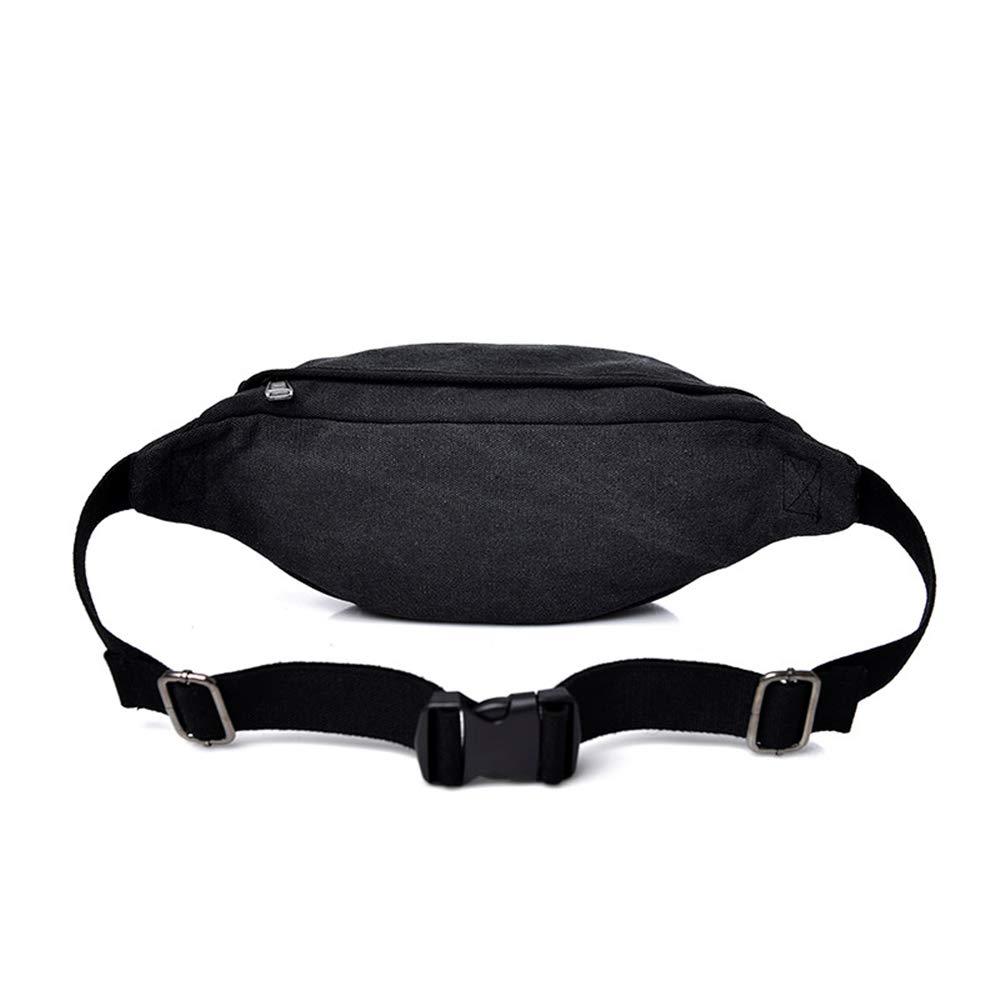 Yzibei Nylon Fanny Pack Black Waist Bag Travel Hiking Hip Bum Purse