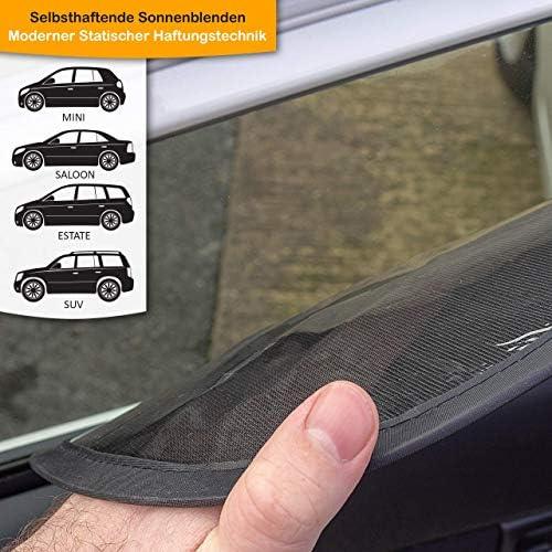 Universali Nuova Versione Migliorata - Tendina Parasole Autoaderente per la Protezione dai Raggi UV Nocivi Tendine Parasole Auto per Bambini confezione da 2 con stampa Leone