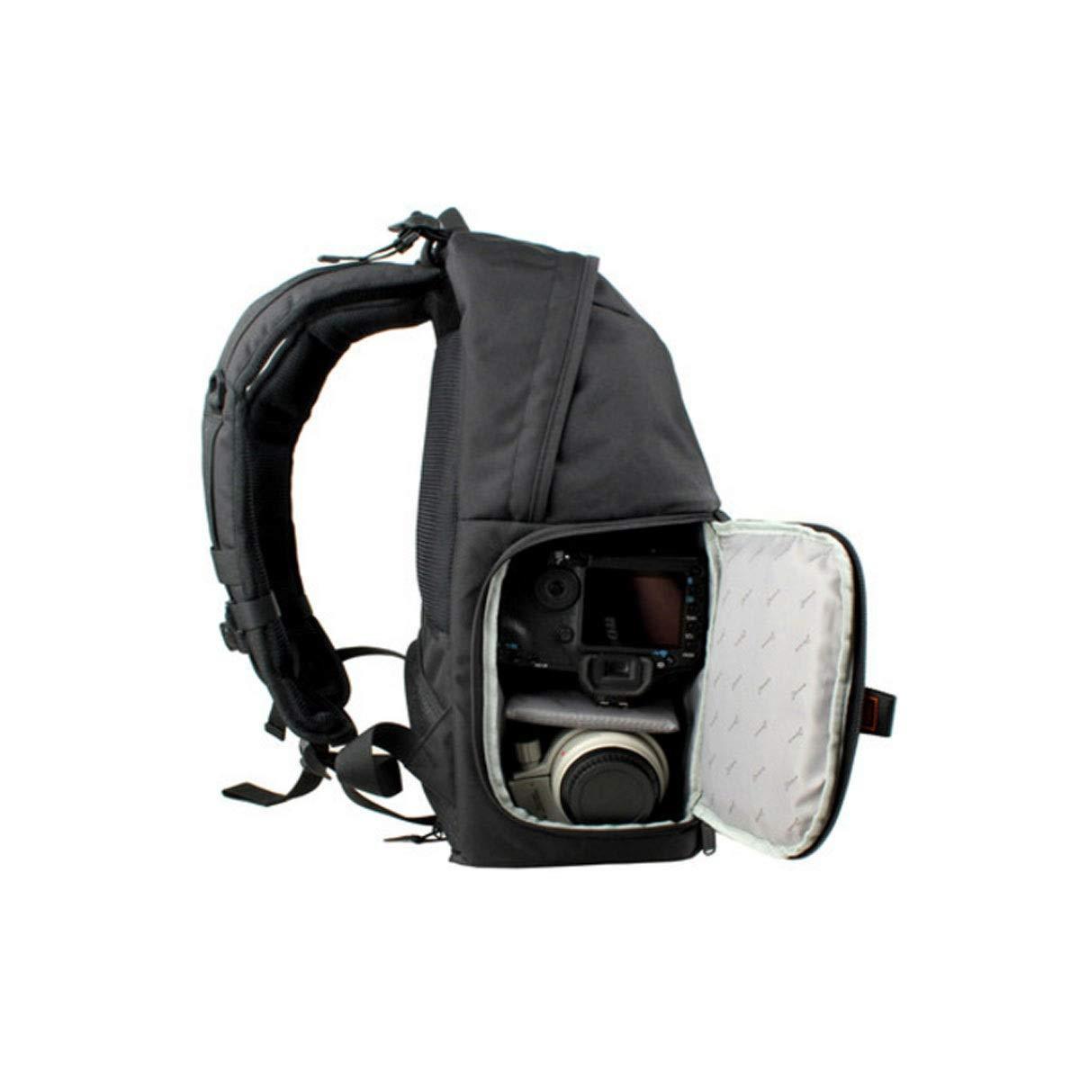カメラバッグ、バックパックを厚くして増やす、便利な大空間ユーススタイル24×16×43赤 (Color : Black) B07R4WYMZF