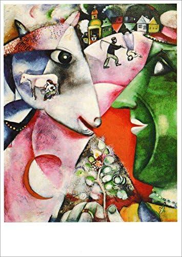 Amazon De Kunstkarte Marc Chagall Ich Und Das Dorf