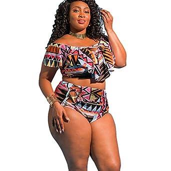 71332735224 HITSAN INCORPORATION Ariel Sarah 5XL Large Size Bikini Set Women Plus Size  Swimwear Big High Waist