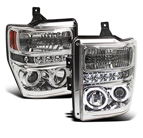 ZMAUTOPARTS Ford F250 F350 F450 F550 Super Duty CCFL Halo DRL LED Projector Headlights