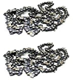 "Motor Buddies 2 Pack 22"" Saw Chain .325"" LP .058"" Guage 86 DL Blue Max 2160 21LPX086G"