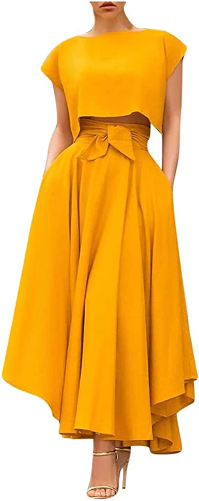 BXzhiri Bohemian Style Skirt Women's Fashion Fall Casual Solid Color Long Skirts