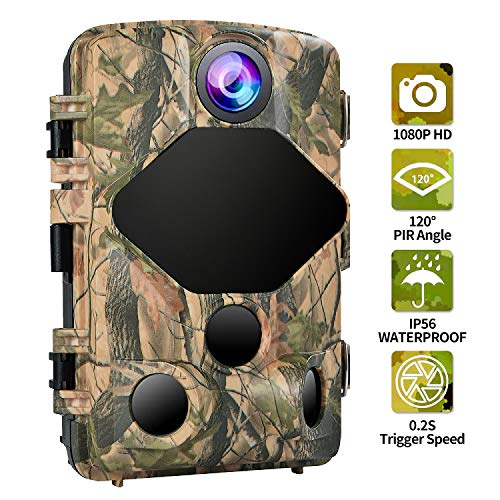 """YIDA TECH Trail Camera 16MP 1080P Game Camera for Wildlife Monitoring Waterproof Hunting Scouting Cam with 2.4"""" LCD120°Detecting Range 65ft Motion Activated Night Vision IR Outdoor Home Security"""