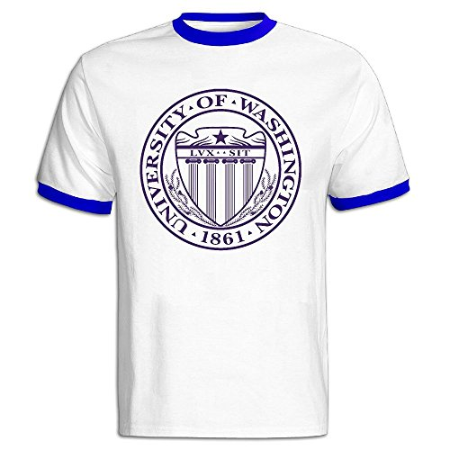 QTHOO Men's O Neck University Of Washington Established 1861 Short Sleeve Baseball T-Shirt]()