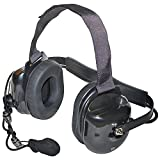 Klein Electronics TITAN-BLACK Titan Extreme High Noise Headset, Black; Professional Grade/OEM High-Noise, Dual-Muff Headset with PTT Push-to-Talk; Extreme noise reducing-Racing, Manufacturing, Oil Rig, Construction, Engineering, OSHA Compliance