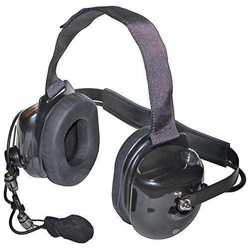 Klein Electronics TITAN-BLACK Titan Extreme High Noise Headset, Black; Professional Grade/OEM High-Noise, Dual-Muff Headset with PTT Push-to-Talk; Extreme noise reducing-Racing, Manufacturing, Oil Rig, Construction, Engineering, OSHA Compliance by Klein Electronics