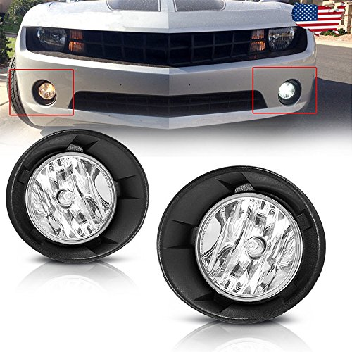 (AUTOSAVER88 Fog Lights For Chevy Camaro 2010 2011 2012 2013 (OE Style Clear Lens with Bulbs & Wiring Harness))