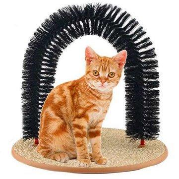 Cat Self-Groomer Arch Bristles Kitten Massager Scratcher Carpet - Cat Cat Cleaning & Grooming - 1 x...
