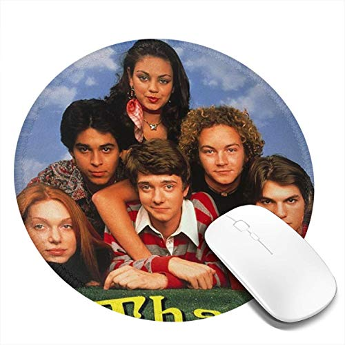 Tchcf That 70s Show Thickened Design 7.9x7.9 in Learning Keyboard Desk Mats