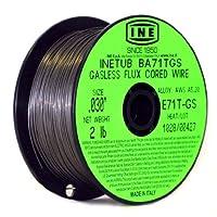 INETUB BA71TGS .030-pulgada en alambre de soldadura con núcleo de flujo sin gas de acero al carbono con carrete de 2 libras