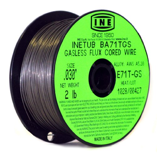 INETUB BA71TGS .030-Inch on 2-Pound Spool Carbon Steel Gasless Flux Cored Welding Wire (Full Spool Steel)