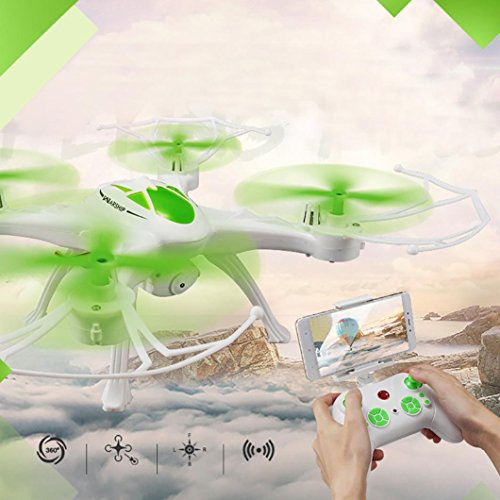 Franterd JJRC H29WH RC Quadcopter 2.4G 4CH 6-Axis Gyro With 0.4MP WIFI Camera Good Choice for Drone Training (Double Link Trim)