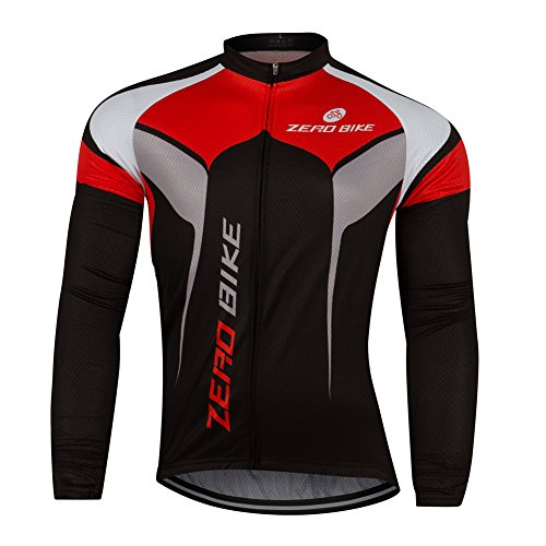 ZEROBIKE Men's Breathable Long Sleeve Cycling Jersey Fast Drying Mesh Cycling Cloting Road Mountain Biking Breathable Vest ()