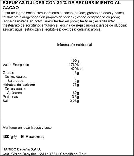 Haribo Chamallows SoftKiss Espumas Dulces, 400g